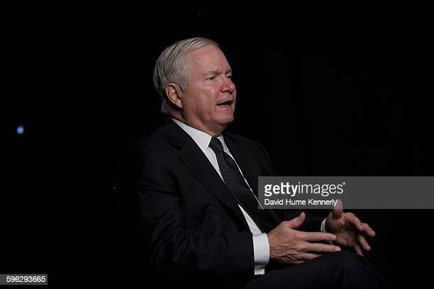 Former Director of Central Intelligence under President George HW Bush Robert Gates is interviewed for 'The Spymasters' a documentary for...