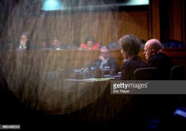Former Director of National Intelligence James Clapper and former US Deputy Attorney General Sally Yates testify before the Senate Judicary...