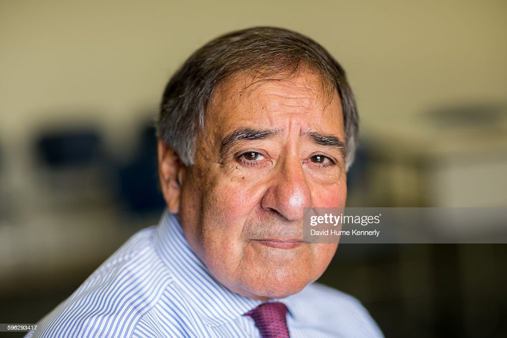Former Director of the Central Intelligence Agency (DCIA) under President Barack Obama, Leon Panetta at the Panetta Institute, Seaside, California, 2015. Panetta was interviewed for the CBS/Showtime documentary, 'The Spymasters.'