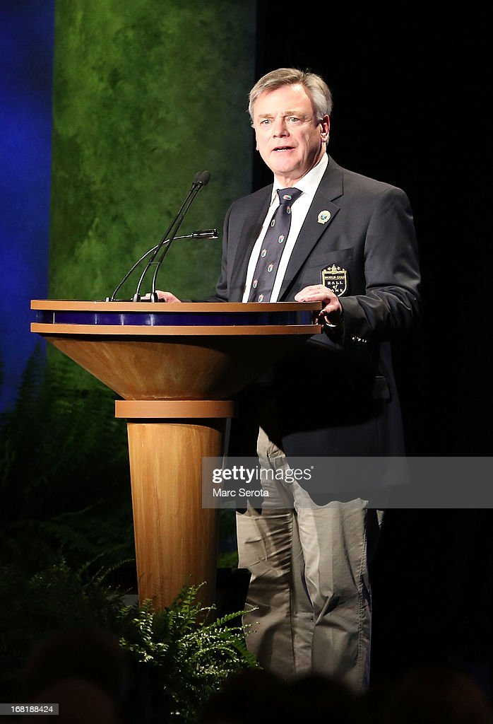 Former Director of the European Tour Ken Shofield speaks during his induction into the World Golf Hall of Fame on May 6, 2013 at the World Golf Village in St Augustine, Florida.