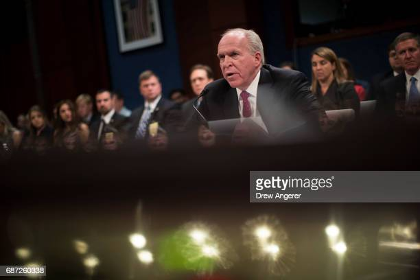 Former Director of the US Central Intelligence Agency John Brennan testifies before the House Permanent Select Committee on Intelligence on Capitol...