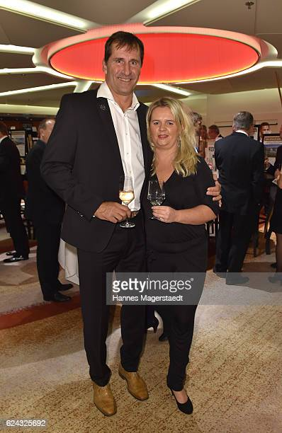 Former discus thrower Lars Riedel and his wife Katja Riedel during the charity dinner hosted by the Leon Heart Foundation at Hotel Vier Jahreszeiten...
