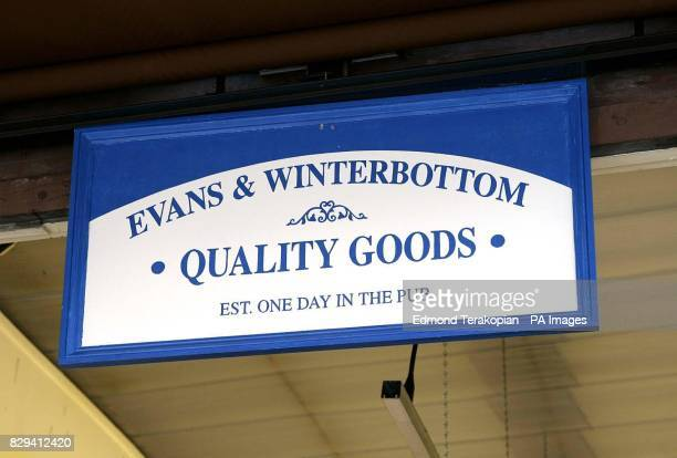 Former DJ and TV presenter Chris Evans opens for business as 'Evans and Winterbottom Quality Goods' touting the contents of three of his luxury homes...