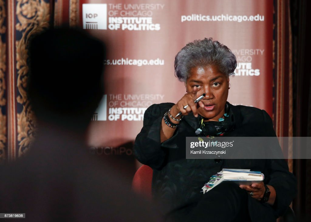 Former DNC Chair Donna Brazile responds to a question from an audience member during a talk at The University of Chicago on November 13, 2017 in Chicago, Illinois. Brazile recently released her book 'Hacks: The Inside Story,' an account of her time as the interim chairperson of the Democratic National Committee during the 2016 presidential campaign.