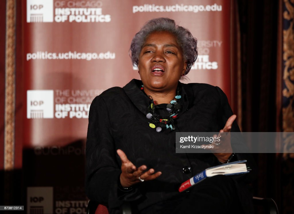 Former DNC Chair Donna Brazile speaks at The University of Chicago on November 13, 2017 in Chicago, Illinois. Brazile recently released her book 'Hacks: The Inside Story,' an account of her time as the interim chairperson of the Democratic National Committee during the 2016 presidential campaign.