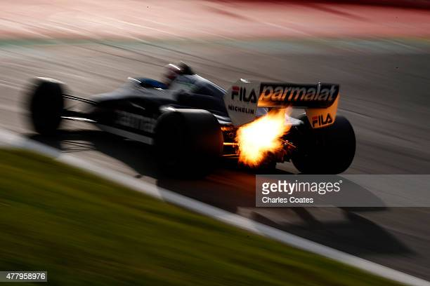 Former driver Nelson Piquet drives on the track after qualifying for the Formula One Grand Prix of Austria at Red Bull Ring on June 20 2015 in...