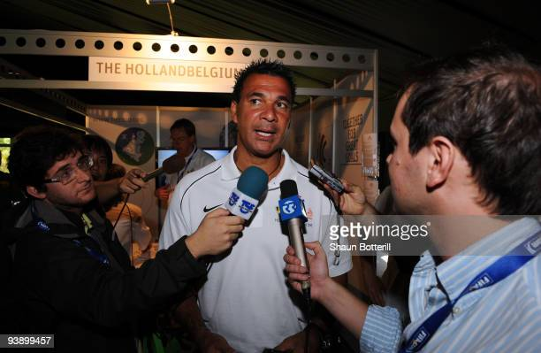 Former Dutch football player Ruud Gullit attends the media expo for countries bidding to host the FIFA World Cup 2018 December 4 2009 at the...
