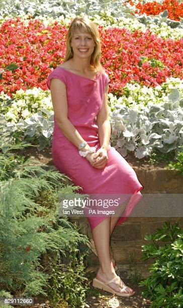 Former EastEnders actress Sophie Lawrence poses for photographers during a photocall to promote the new theatre production of Boogie Nights 2 at the...