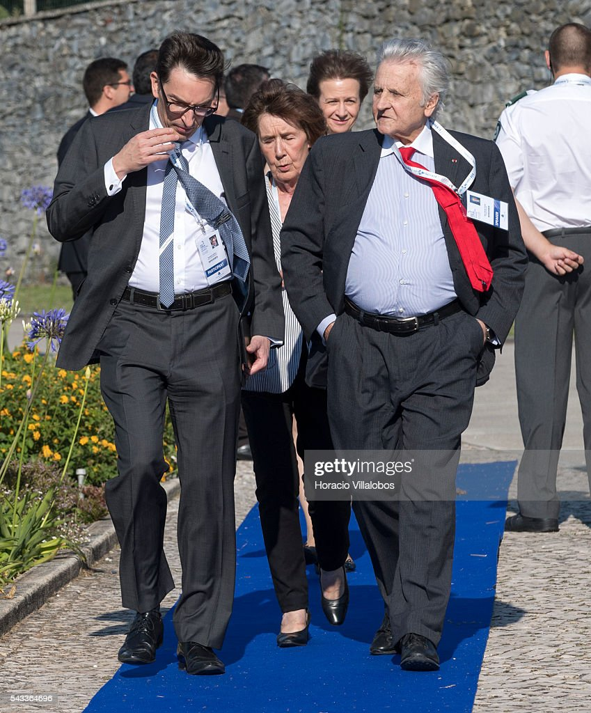 Former ECB President Jean Claude Trichet (R) arrives to participate in the ECB Forum on Central Banking on June 27, 2016 in Sintra, Portugal. The third annual European Central Bank Forum on Central Banking focuses on 'The future of the international monetary and financial architecture', a key topic of debate among economists and policymakers. Some 150 central bank governors, academics, financial journalists and high-level financial market representatives will discuss current policy issues and the chosen topic from a longer-term perspective.