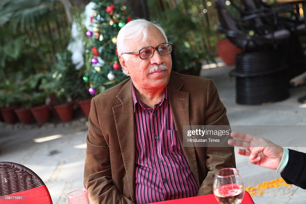 Former Election commisioner SY Qureshi during Christmas party thrown by communication guru Dilip and Devi Cherian at Lodi Garden on December 22, 2012 in New Delhi, India.