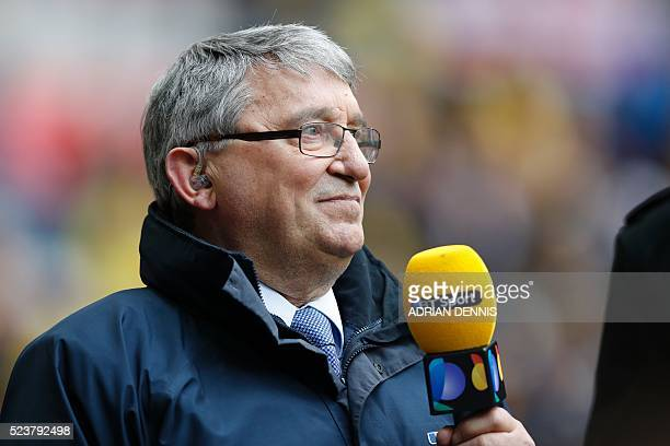 Former England and Watford manager Graham Taylor attends the FA Cup semifinal football match between Crystal Palace and Watford at Wembley Stadium in...