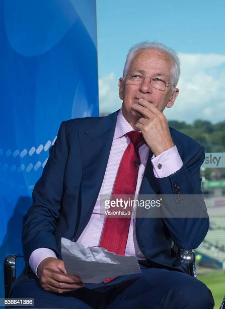 Former England batsman and current Sky Sports commentator David Gower during day two of the 1st Investec test match between England and West Indies...