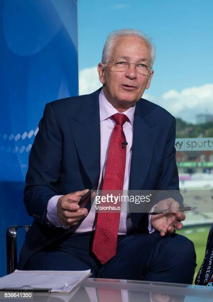 Former England captain and current Sky Sports commentator David Gower during day two of the 1st Investec test match between England and West Indies...