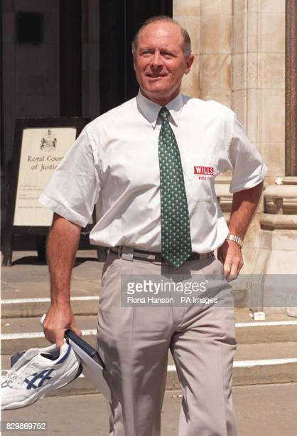 Former England cricketer Geoffrey Boycott at the High Court today after giving evidence in the libel case between former Pakistan captain Imran Khan...