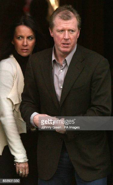 ENGLAND 24** Former England football manager Steve McClaren and his wife Kathryn leave Sopwell House Hotel St Albans after a press conference