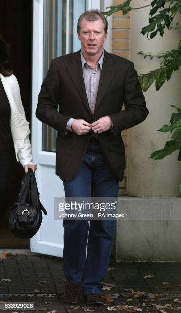 Former England football manager Steve McClaren leaves the Sopwell House Hotel St Albans after a press conference