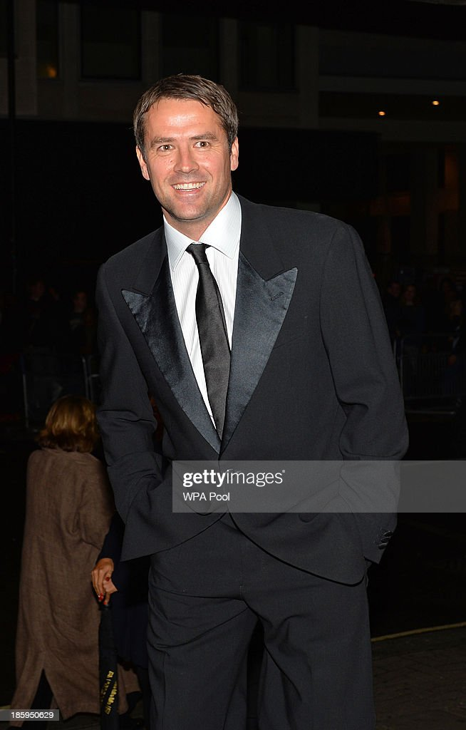 Former England international striker Michael Owen arrives to attend The Football Association's 150th Anniversary Gala Dinner at the Grand Connaught Rooms on October 26, 2013 in London, England. The Duke of Cambridge is president of the Football Association, which was founded 150 years ago on October 26, 1863. The event marks the day when a group of men representing a dozen London and suburban clubs met at the Freemason's Tavern in London, to draw up the rules of a sport that went on to become the most popular in the world.