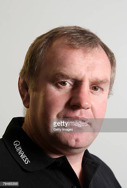Former England Player and Harlequins Director of Rugby Dean Richards in his role as Guinness Ambassador at the Radio Consultancy on February 1 2008...