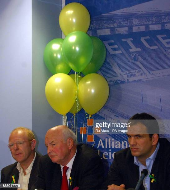 Former England rugby captain Martin Johnson with Madeleine McCann's uncle John McCann and great uncle Brian Kennedy at the launch of The Madeleine...