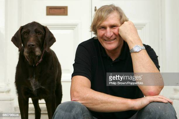 Former England Rugby player Andy Ripley poses for a photograph with his dog Torben at his home in Surrey on the 1st February 2007