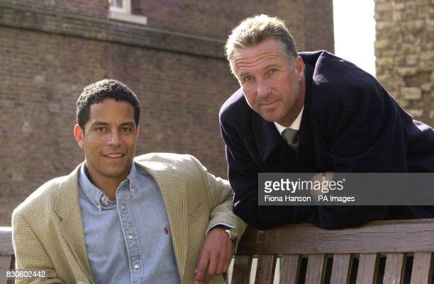 Former England sportsmen cricket hero Ian Botham and rugby union International Jeremy Guscott in Westminster London Guscott will be following in the...