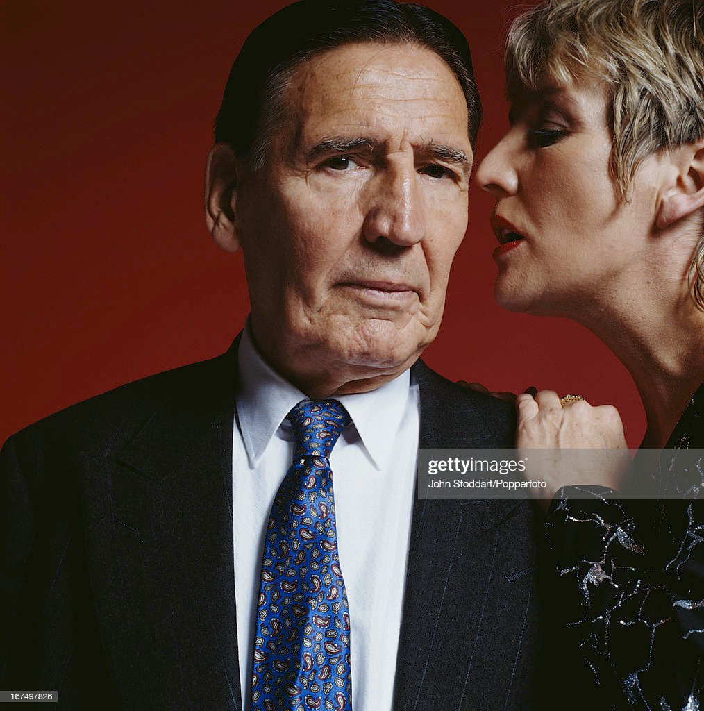 Former English criminal and gang member 'Mad' Frankie Fraser with girlfriend Marilyn Wisbey, in 1996.