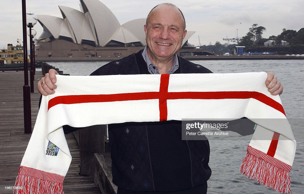 Former English Rugby Union player <a gi-track='captionPersonalityLinkClicked' href=/galleries/search?phrase=George+Cohen&family=editorial&specificpeople=703599 ng-click='$event.stopPropagation()'>George Cohen</a> in Australia for the England v Australia Rugby Union World Cup Final on November 21, 2003 in Sydney, Australia.