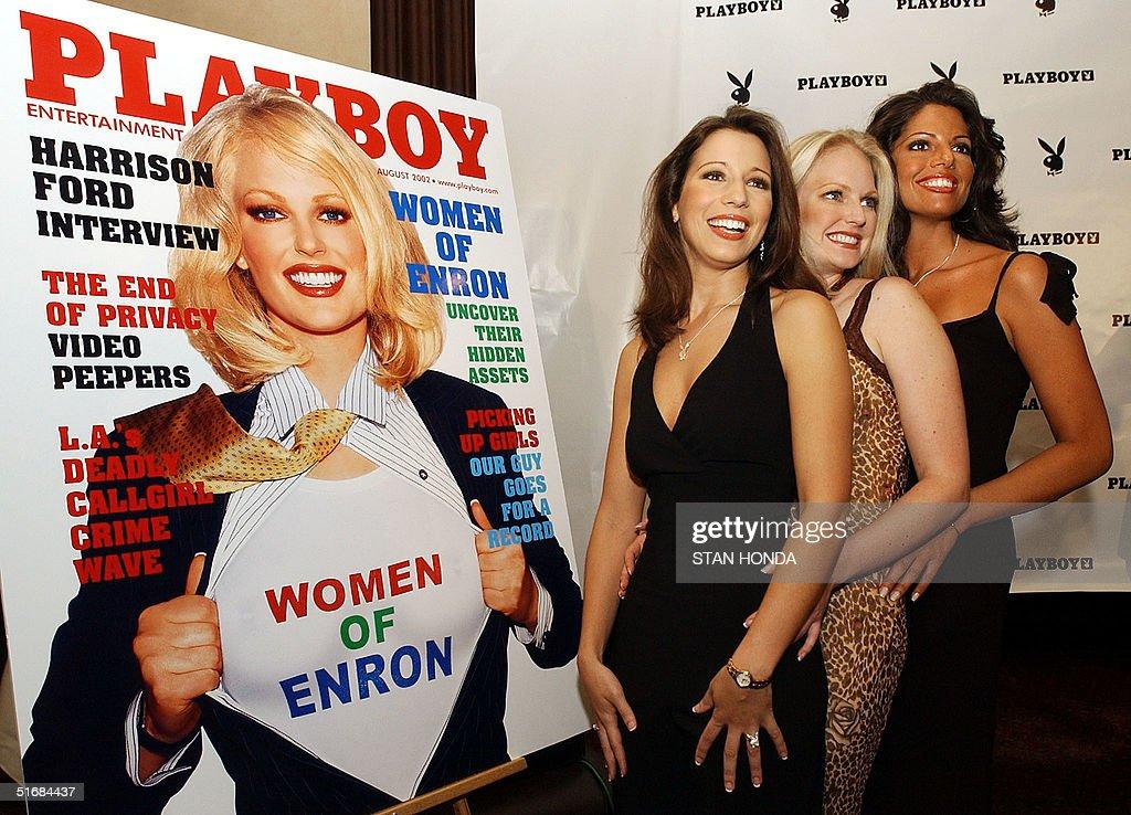 Playboy August 2002 Christina Santiago Women of Enron Tenison Twins NM