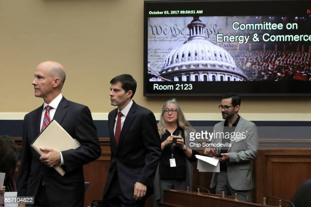 Former Equifax CEO Richard Smith arrives before testifying to the House Energy and Commerce Committee's Digital Commerce and Consumer Protection...