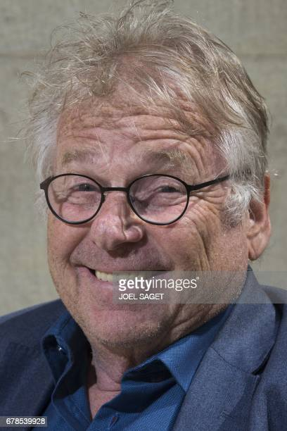 Former European MP Daniel CohnBendit poses on May 4 2017 in Paris / AFP PHOTO / JOEL SAGET