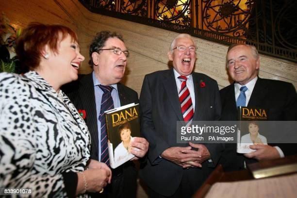 Former Eurovision song winner Dana jokes with Northern Ireland First Minister Ian Paisley John Hume former SDLP leader and Albert Reynolds former...