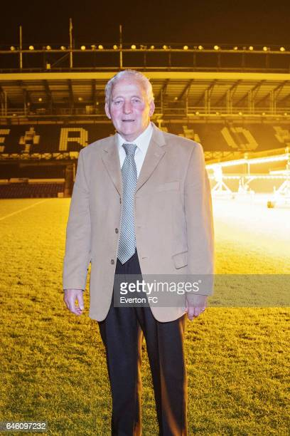 Former Everton player Alex Young attends a preview of the documentary 'Alex the Great' at Goodison Park on November 26 2016 in LiverpoolEngland