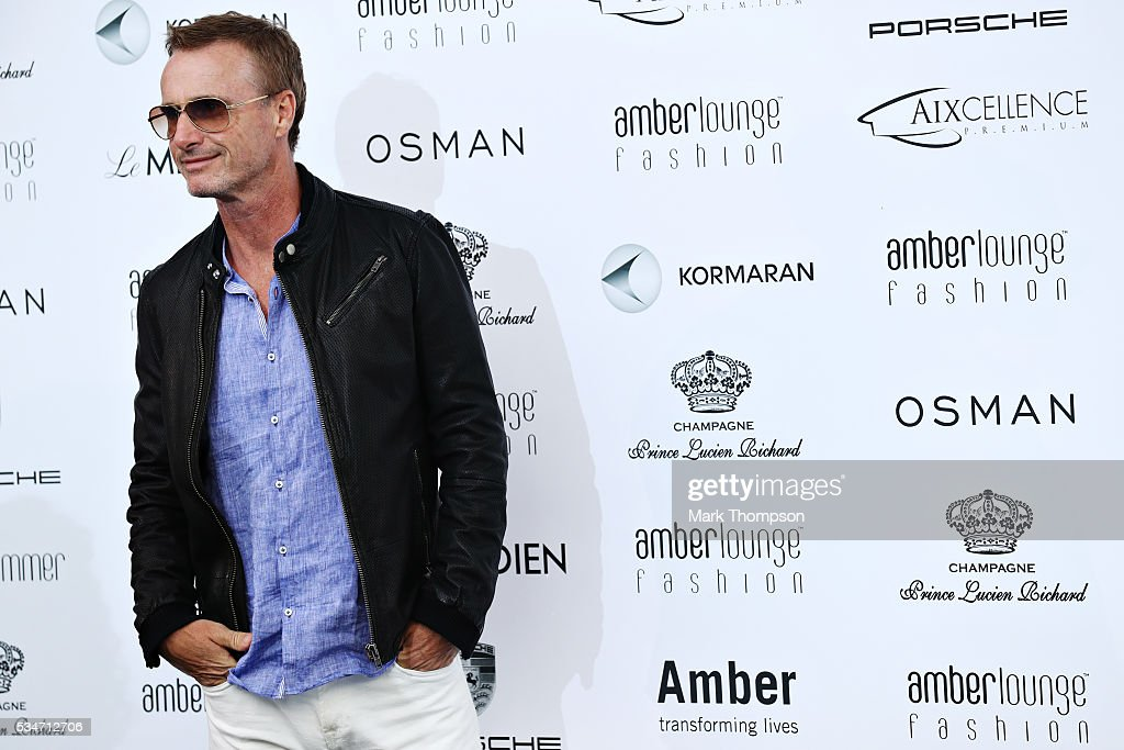Former F1 driver <a gi-track='captionPersonalityLinkClicked' href=/galleries/search?phrase=Eddie+Irvine&family=editorial&specificpeople=211289 ng-click='$event.stopPropagation()'>Eddie Irvine</a>, arrives at the Amber Lounge fashion show during previews to the Monaco Formula One Grand Prix at Circuit de Monaco on May 27, 2016 in Monte-Carlo, Monaco.