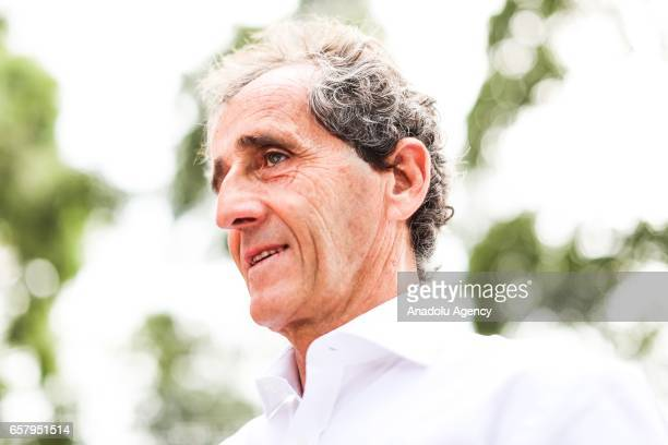 Former F1 world champion Alain Prost is seen during the 2017 Rolex Australian Formula 1 Grand Prix at Albert Park circuit in Melbourne Australia on...