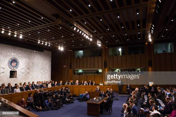 Former FBI Director James Comey testified in front of the Senate Intelligence Committee on his past relationship with President Donald Trump and his...