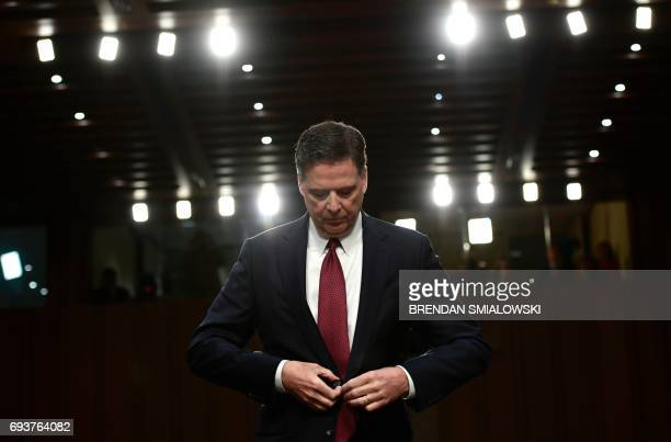 Former FBI Director James Comey testifies during a US Senate Select Committee on Intelligence hearing on Capitol Hill in Washington DC June 8 2017...