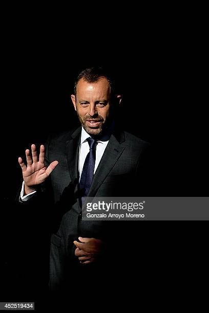 Former FC Barcelona president Sandro Rosell arrives at Spain's High Court on July 22 2014 in Madrid Spain Former FC Barcelona president Sandro Rosell...