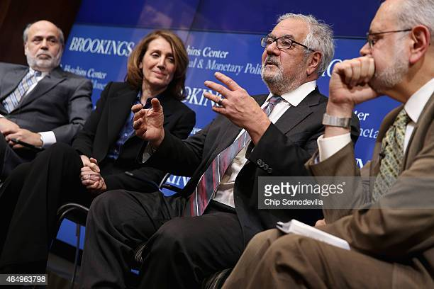 Former Fed Chairman Ben Bernanke Morgan Stanley Chief Financial Officer and Executive Vice President Ruth Porat former House Financial Services...