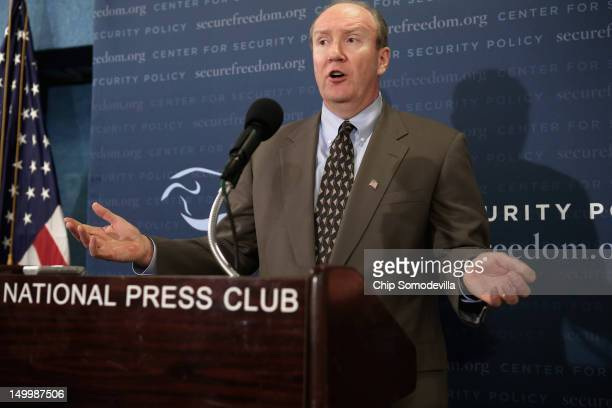 Former federal prosecutor Andrew McCarthy speaks during a briefing 'concerning Muslim Brotherhood influence inside and aimed at the Obama...