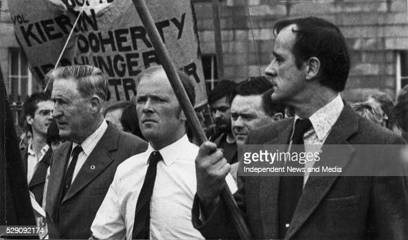 Former Fianna Fail Minister Kevin Boland with Daithi O'Connell IRA Chief of Staff circa 1970's
