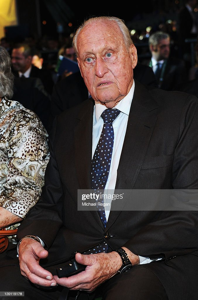 Former FIFA President <a gi-track='captionPersonalityLinkClicked' href=/galleries/search?phrase=Joao+Havelange&family=editorial&specificpeople=552184 ng-click='$event.stopPropagation()'>Joao Havelange</a> during the Preliminary Draw of the 2014 FIFA World Cup at Marina Da Gloria on July 30, 2011 in Rio de Janeiro, Brazil.