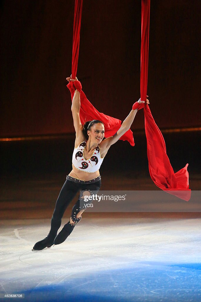 Former figure skater Marie Pierre Leray performs during Artistry On Ice 2014 at Mercedes-Benz Arena on July 27, 2014 in Shanghai, China.