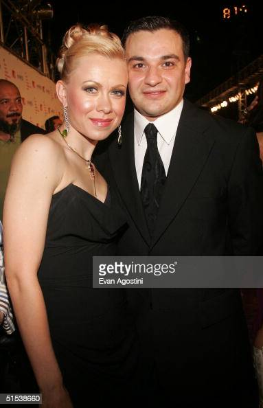 Former figure skater Oksana Baiul and husband Gene Sinuk arrive at the 2004 MTV Video Music Awards Latin America at the Jackie Gleason Theater...