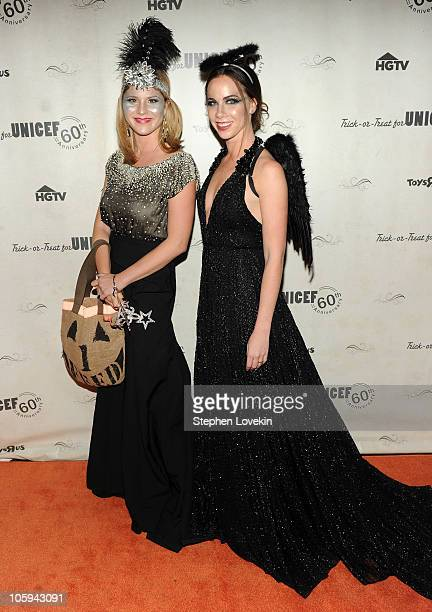 Former first daughters Jenna Bush Hager and Barbara Bush attend the 1st Annual Unicef Masquerade Ball at The Angel Orensanz Foundation on October 21...