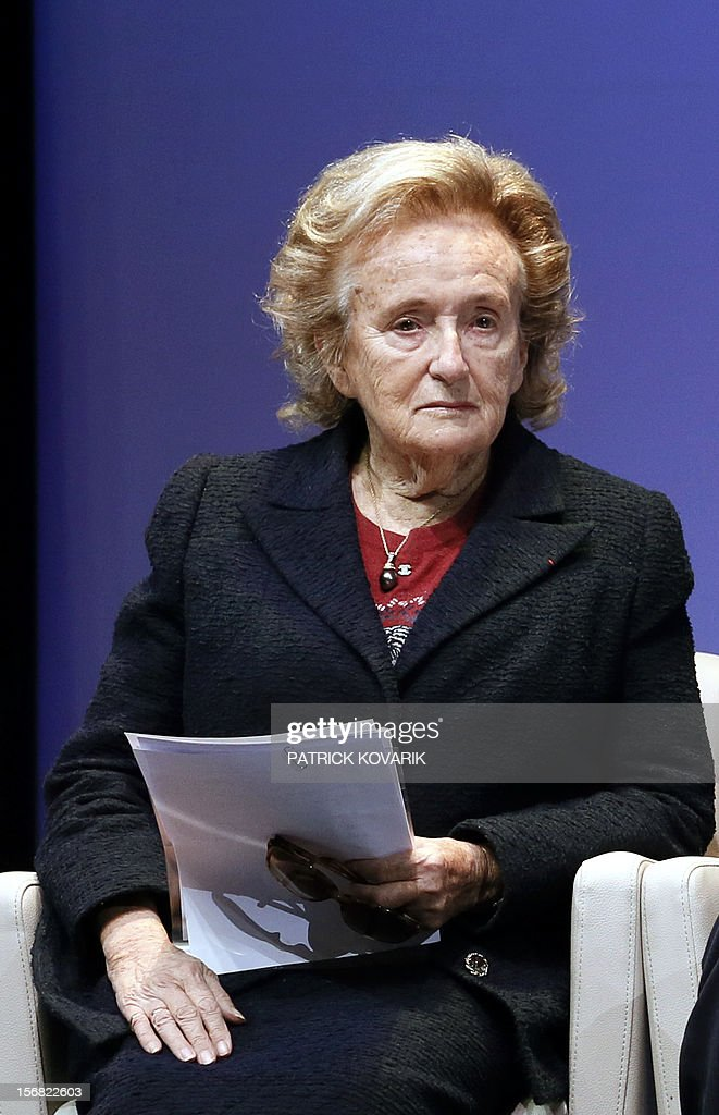 Former First lady, Bernadette Chirac attends the ceremony of release of the Jacques Chirac Foundation's 2012 Award for the prevention of conflicts, on November 22, 2012 at the Quai Branly Museum in Paris. AFP PHOTO PATRICK KOVARIK