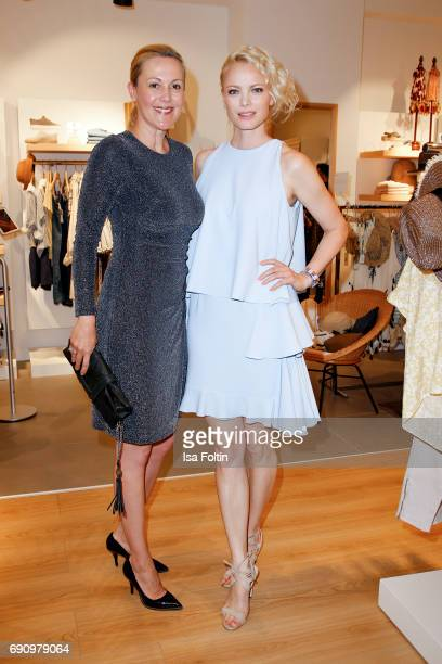 Former first Lady Bettina Wulff and model Franziska Knuppe attend the Yargici Flagship Store Opening at Levantehaus on May 31 2017 in Hamburg Germany