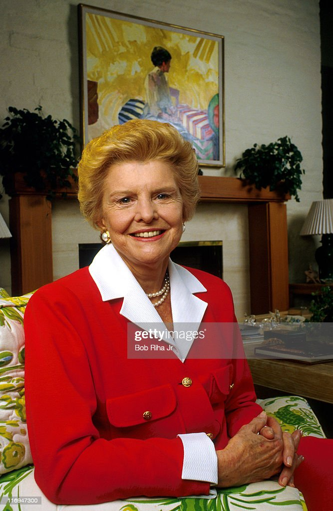 Former First Lady <a gi-track='captionPersonalityLinkClicked' href=/galleries/search?phrase=Betty+Ford&family=editorial&specificpeople=125160 ng-click='$event.stopPropagation()'>Betty Ford</a> at her home in Rancho Mirage, Calif. in dated photo taken 2/5/87.