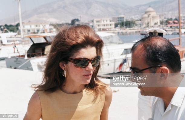 Former First Lady Jacqueline Kennedy vacations in Greece circa the late1960s