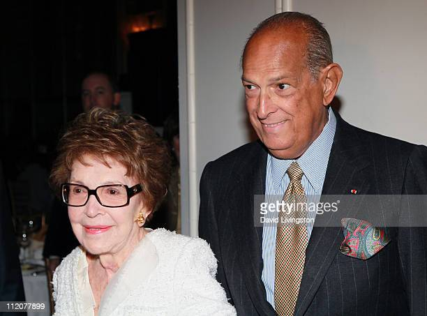 Former First Lady Nancy Reagan and designer Oscar de la Renta attend the 22nd Annual Spring Luncheon by The Colleagues at the Beverly Wilshire Hotel...