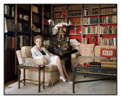 Former first lady Nancy Reagan is photographed at home in her library for Vanity Fair Magazine on July 1 2009 in Bel Air California Published image